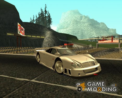 Mercedes-Benz CLK GTR Race Road Version Stock для GTA San Andreas