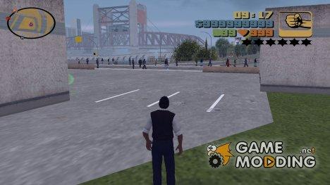 HUD и Radar из юбилейной версии for GTA 3