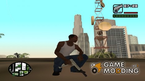 Desert Eagle FullAtachSilenced из GTA V для GTA San Andreas