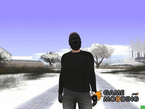 Skin GTA Online в чёрной маске для GTA San Andreas
