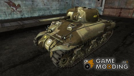 шкурка для M4 Sherman №17 for World of Tanks
