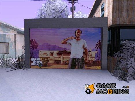 Дверь гаража текстура GTA V Тревор for GTA San Andreas