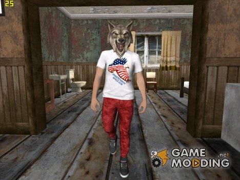 Skin HD GTA V Online парень в маске волка for GTA San Andreas