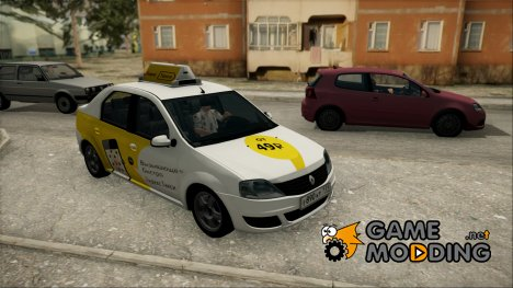 "Renault Logan ""Яндекс Такси"" для GTA San Andreas"