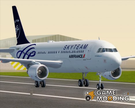 Airbus A320-200 Air France Skyteam Livery for GTA San Andreas