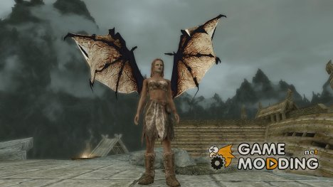 Wearable Dragon Wings for TES V Skyrim