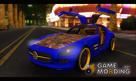 Mercedes SLS AMG Hamann 2010 Stickers Style for GTA San Andreas