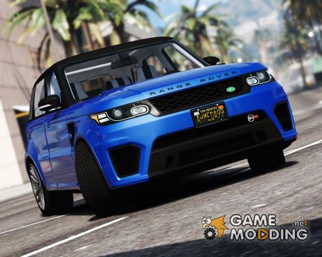 2016 Range Rover Sport SVR  v1.2 for GTA 5