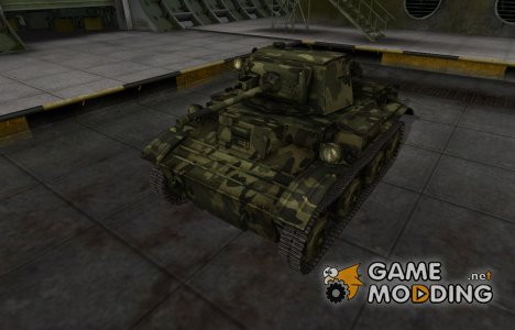 Скин для MkVII Tetrarch с камуфляжем для World of Tanks