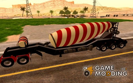 Cement Mixer Trailer for GTA San Andreas