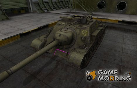 Контурные зоны пробития СУ-122-54 for World of Tanks