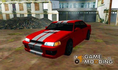 Sultan с двумя гоночными полосками для GTA San Andreas