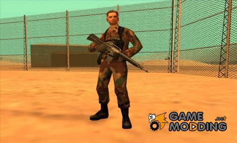 Soldier without hat for GTA San Andreas