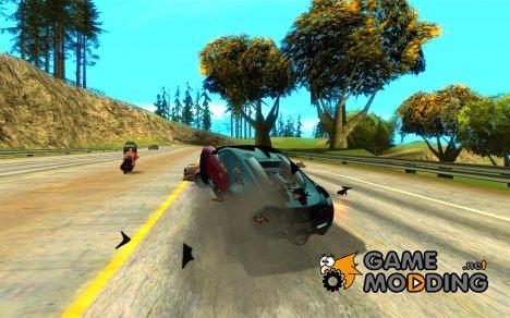 Потеря жизней при аварии for GTA San Andreas