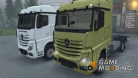 Mercedes-Benz MP4 Gold and AFB для Spintires 2014
