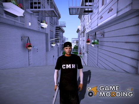 Скин работника СМИ для GTA San Andreas