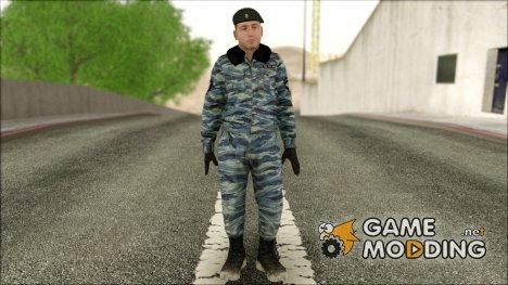Сотрудник ОМОНа в зимней форме для GTA San Andreas