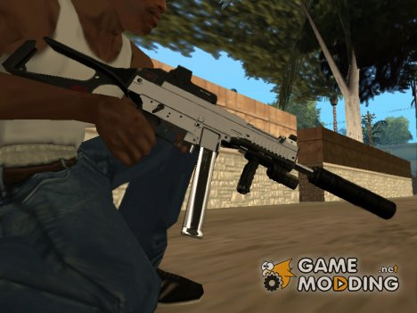 MP5 Grey Chrome for GTA San Andreas