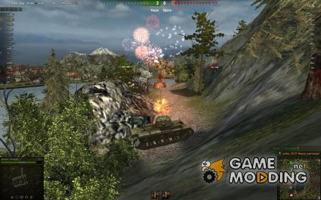 Mod Fireworks for World of Tanks