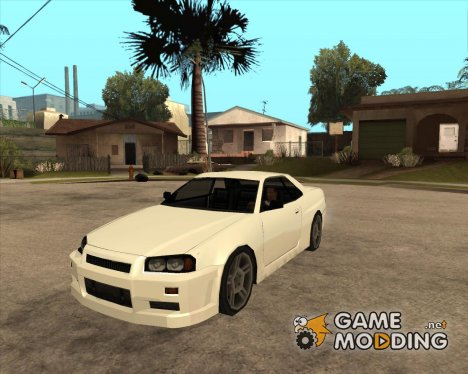 Nissan Skyline R34 в стиле SA для GTA San Andreas