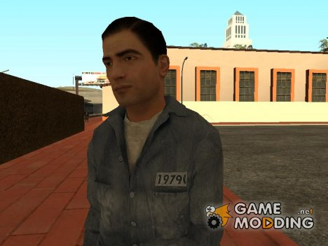 Vito's Prison Clothes (Short Hair) from Mafia II для GTA San Andreas