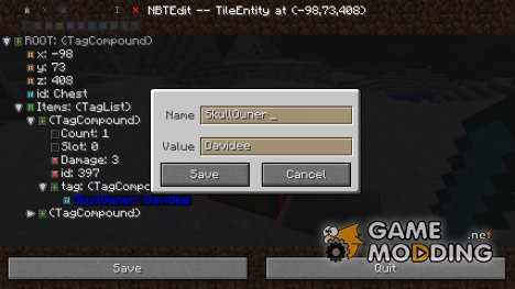 In-Game NBTEdit для Minecraft