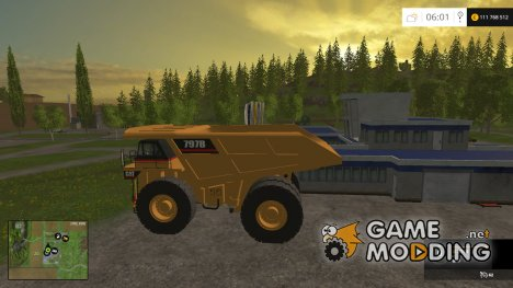 CAT 797B Dumper v0.1 Beta для Farming Simulator 2015