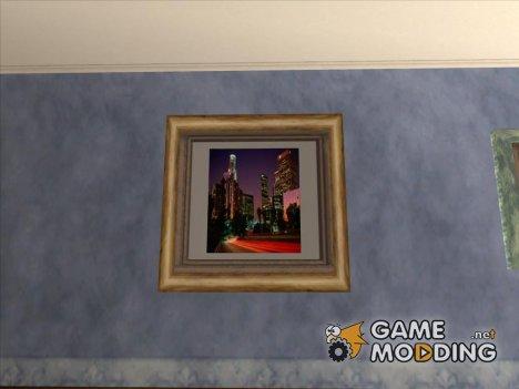 Новые картины в доме Карла for GTA San Andreas