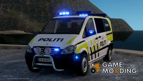 Mercedes-Benz Vito 2014 Norwegian Police для GTA 4