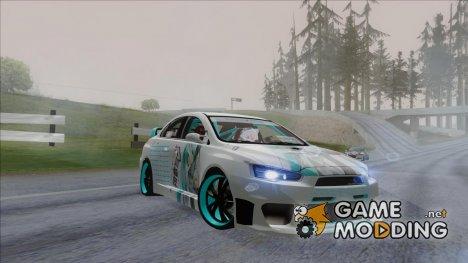 Mitsubishi Lancer - Miku Hatsune Itasha для GTA San Andreas