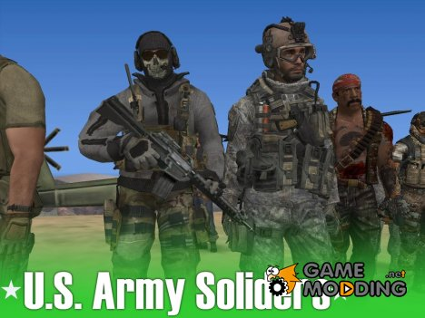 U.S. Army Soliders by crow for GTA San Andreas