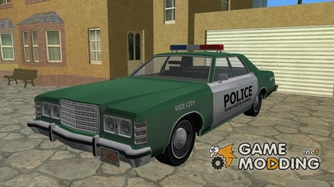 Ford Custom 500 (4-door) 1975 Police для GTA Vice City