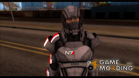 Shepard Default N7 from Mass Effect 3 for GTA San Andreas