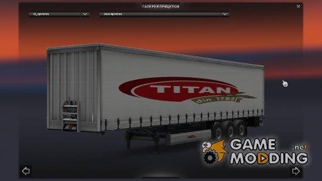 Titan Trailer для Euro Truck Simulator 2
