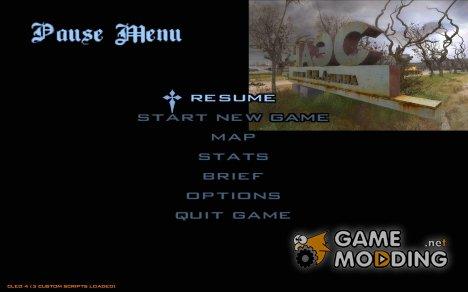 Главное меню в стиле Сталкер for GTA San Andreas