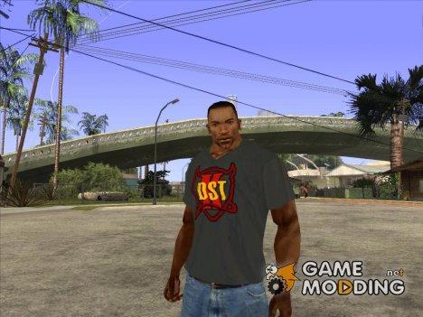 CJ в футболке (K DST) для GTA San Andreas