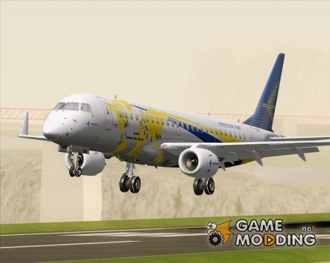 Embraer ERJ-190 Embraer House World Logo Livery (PP-XMB) для GTA San Andreas