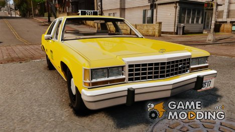 Ford LTD Crown Victoria 1987 L.C.C. Taxi for GTA 4