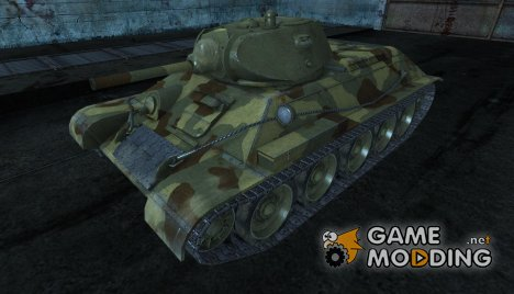 Шкурка для Т-34. 63 танковая бригада. for World of Tanks