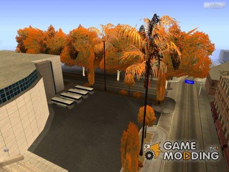 Осенние листья на деревьях. v1.0 для GTA San Andreas