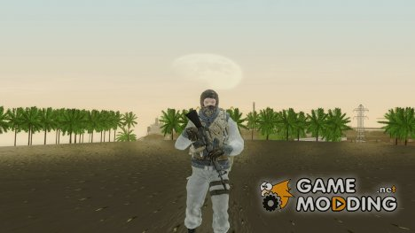 COD BO Bruce Harris Winter для GTA San Andreas