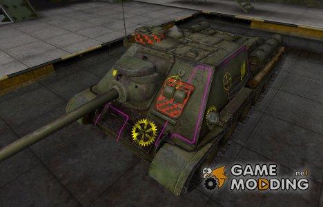 Контурные зоны пробития СУ-100 for World of Tanks