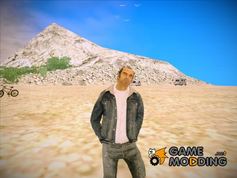GTA V - Trevor with Blue Denim Jacket for GTA San Andreas