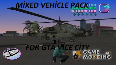 Mixed vehicle pack for GTA Vice City