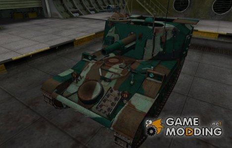Французкий синеватый скин для AMX 13 105 AM mle. 50 for World of Tanks