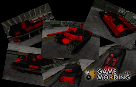 Шкурки с зонами пробития Чёрно-Красные для World of Tanks