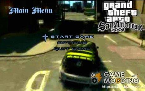 Видео меню gta4 drift для GTA San Andreas