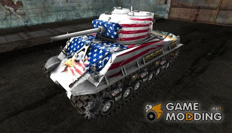 Шкурка для M4A3E8 Independence Day for World of Tanks