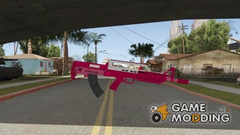 Bullpup Rifle GTA V Pink для GTA San Andreas