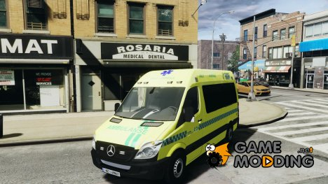 Mercedes-Benz Sprinter PK731 Ambulance for GTA 4